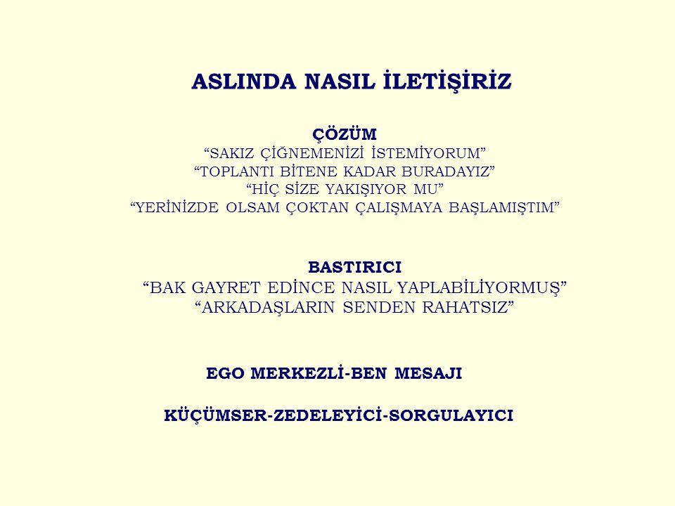 ASLINDA NASIL İLETİŞİRİZ