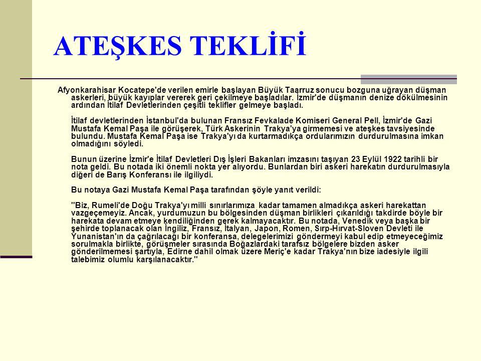 ATEŞKES TEKLİFİ