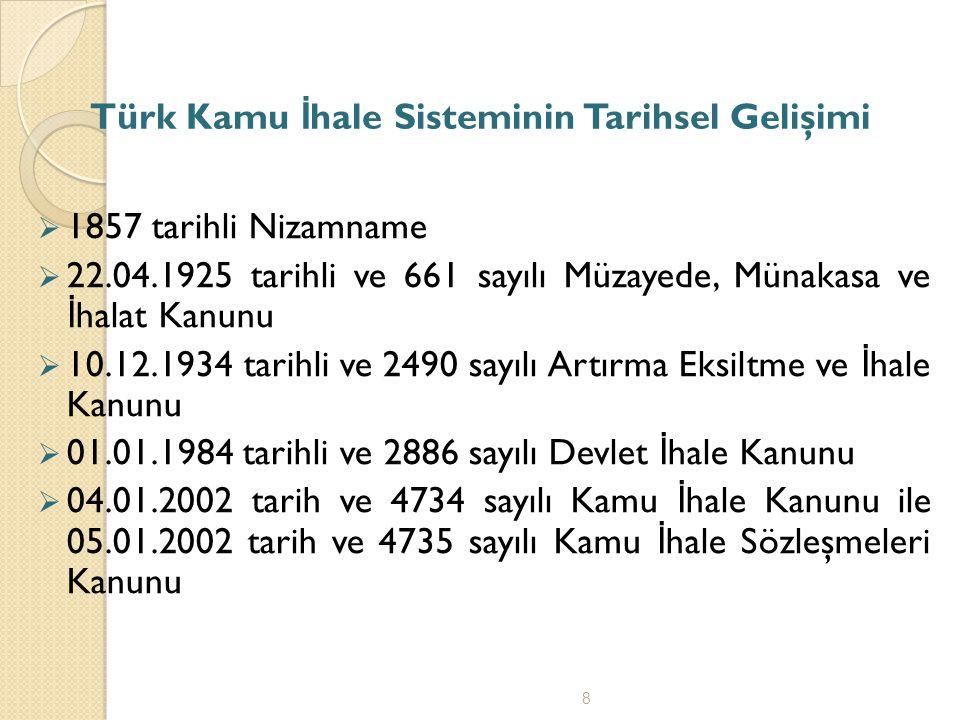 Türk Kamu İhale Sisteminin Tarihsel Gelişimi