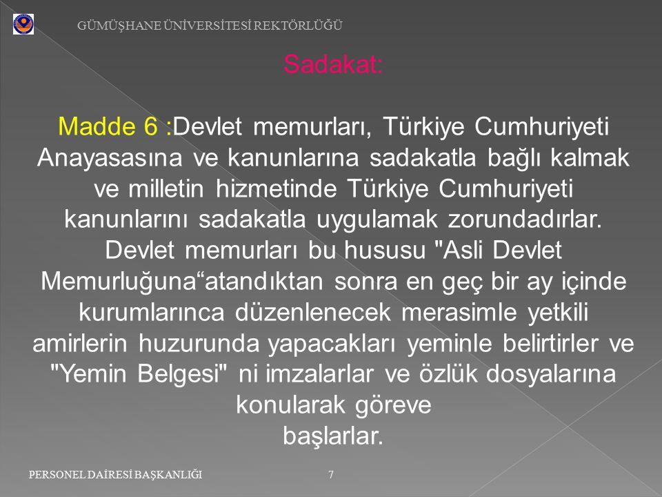 Madde 6 :Devlet memurları, Türkiye Cumhuriyeti