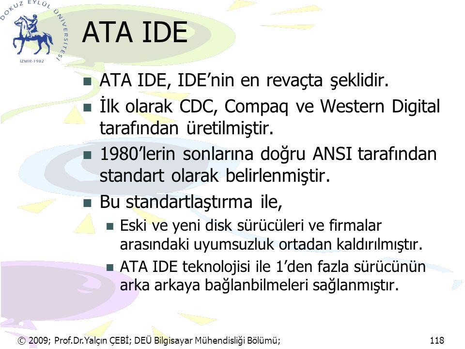 ATA IDE ATA IDE, IDE'nin en revaçta şeklidir.