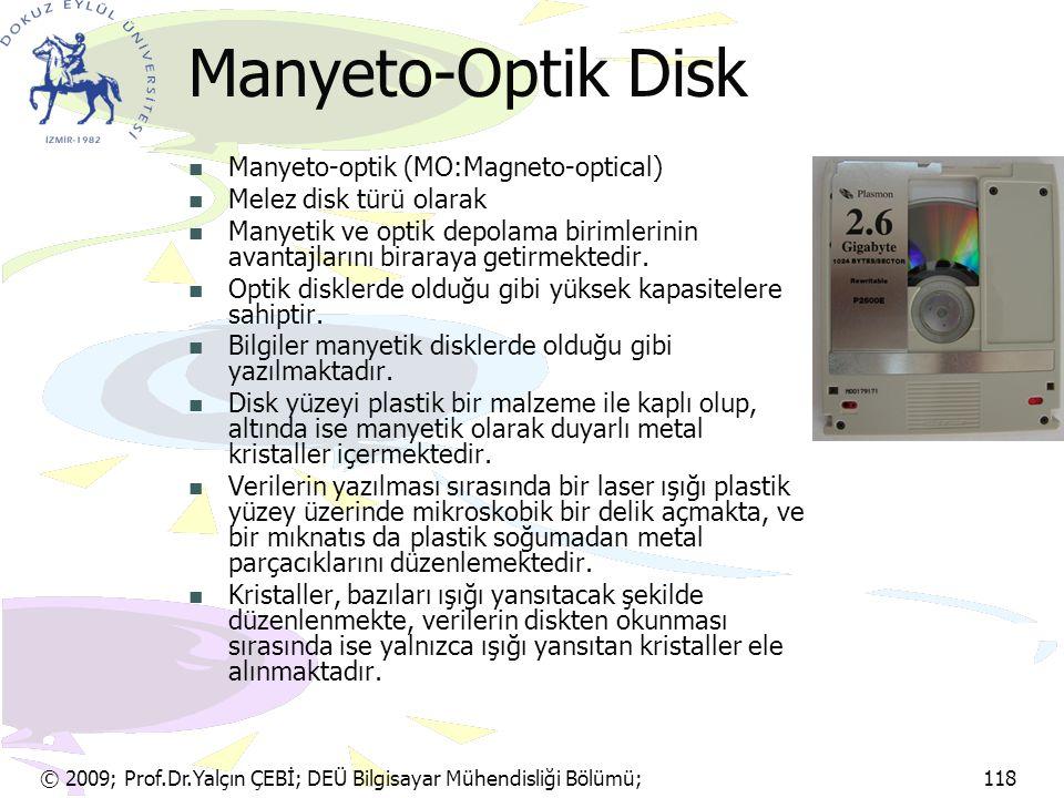 Manyeto-Optik Disk Manyeto-optik (MO:Magneto-optical)