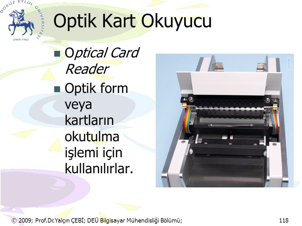 Optik Kart Okuyucu Optical Card Reader