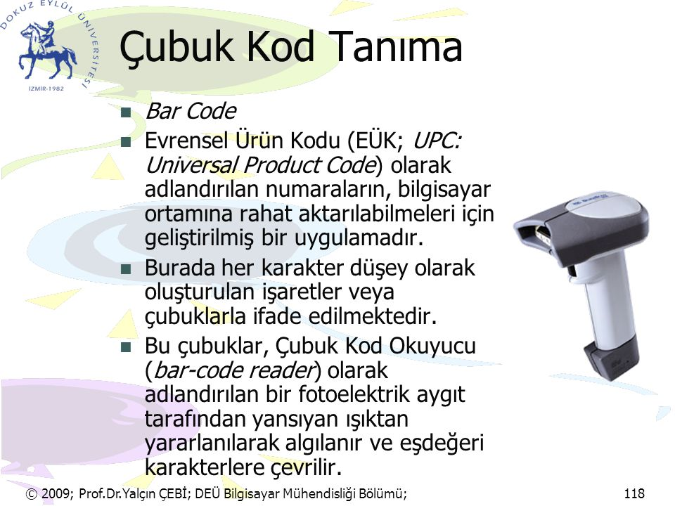 Çubuk Kod Tanıma Bar Code