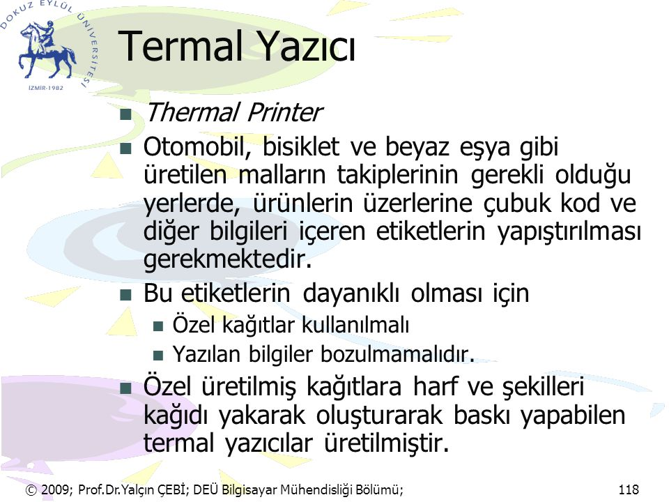 Termal Yazıcı Thermal Printer