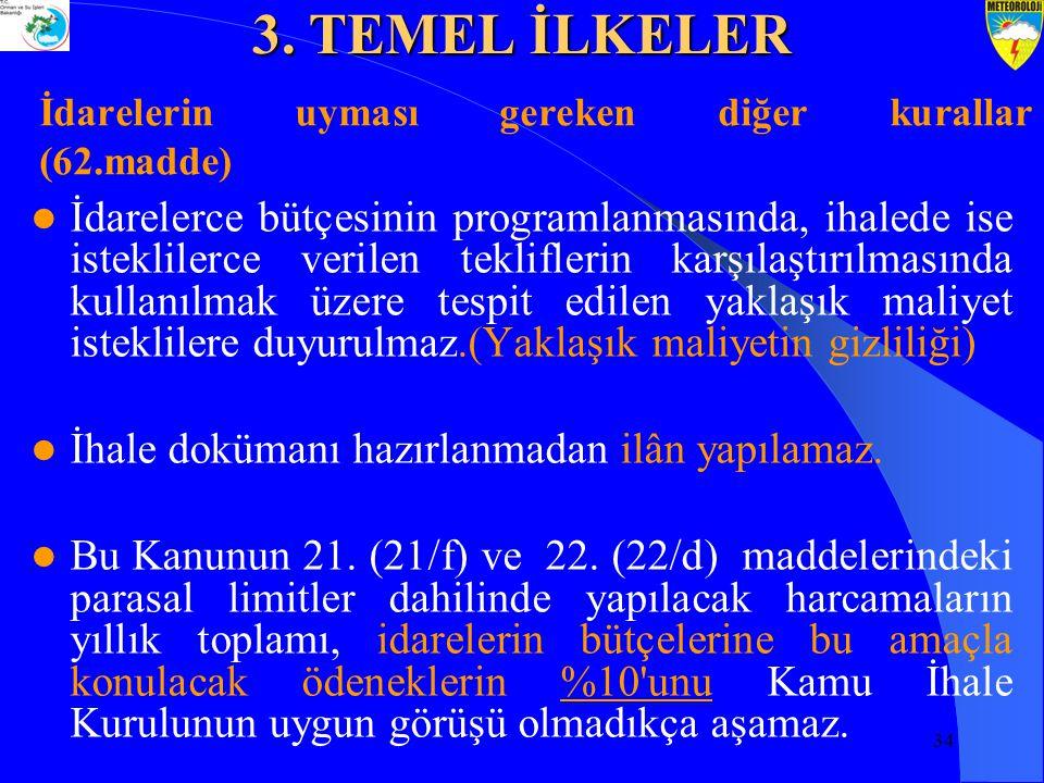 İdarelerin uyması gereken diğer kurallar (62.madde)
