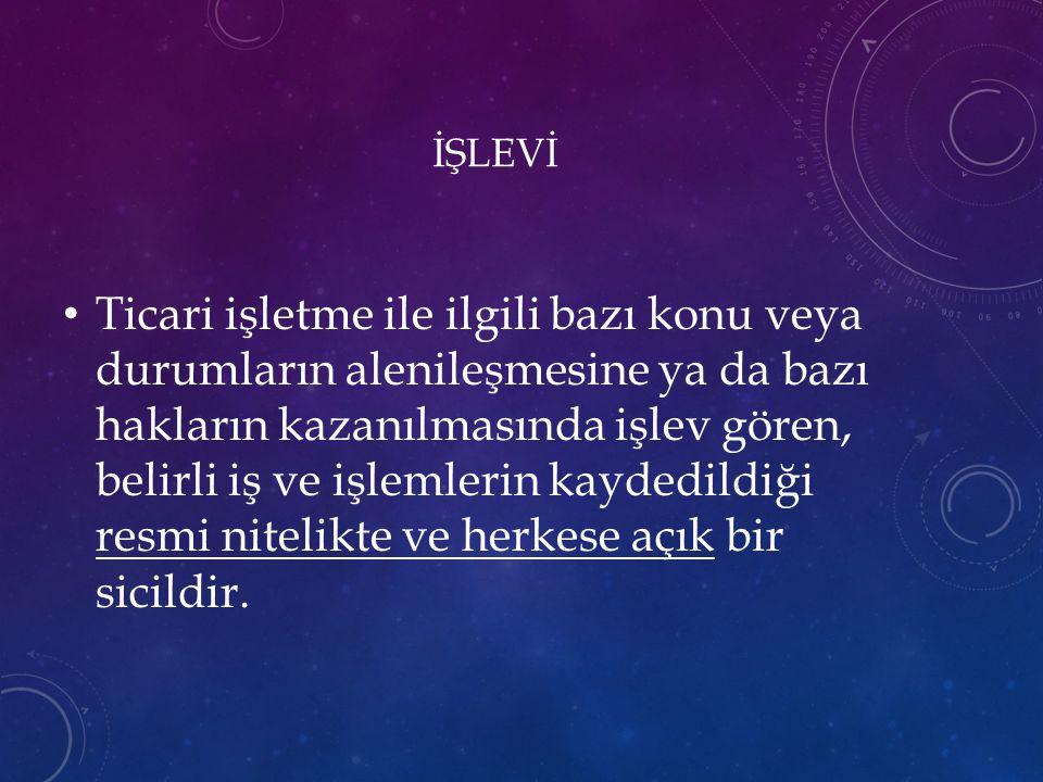 İŞLEVİ
