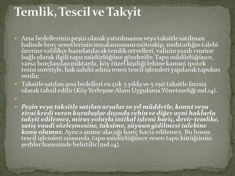 Temlik, Tescil ve Takyit