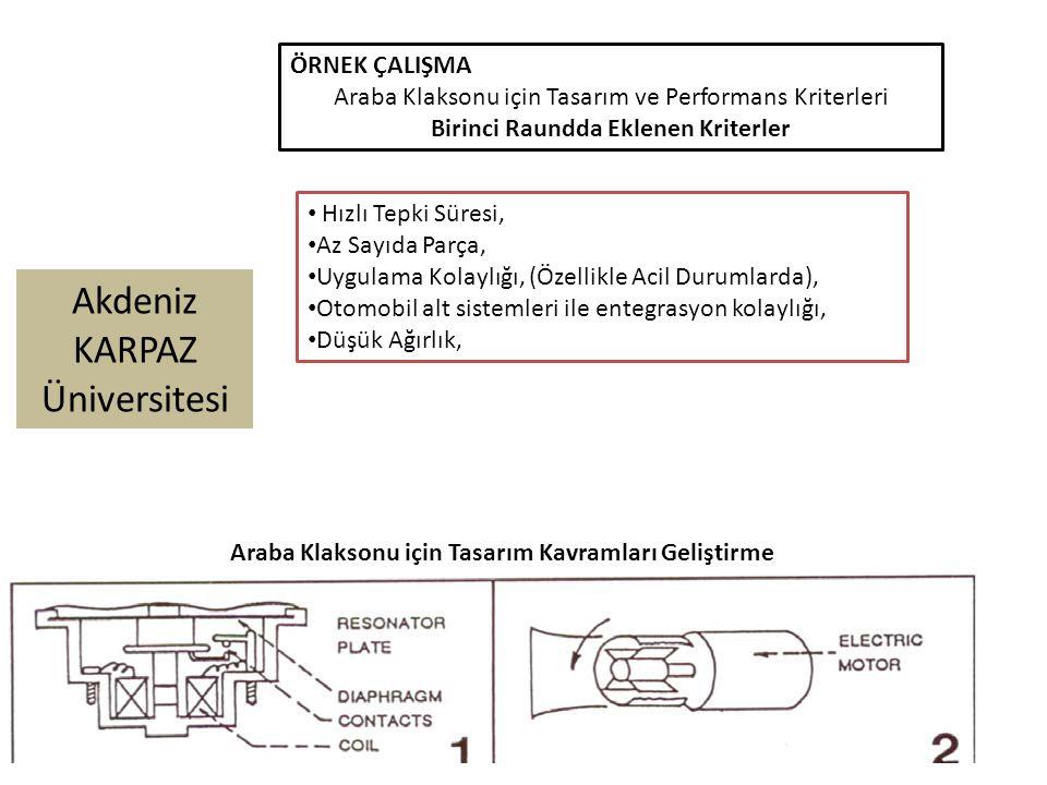 Araba Klaksonu için Tasarım ve Performans Kriterleri