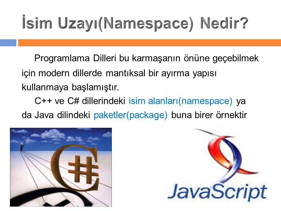 İsim Uzayı(Namespace) Nedir