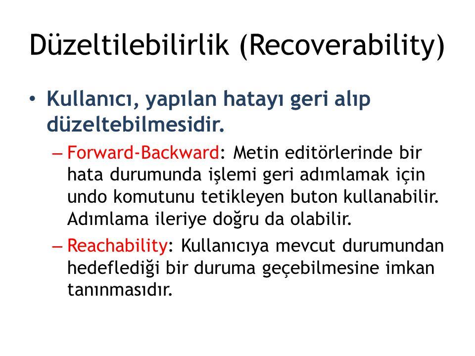 Düzeltilebilirlik (Recoverability)