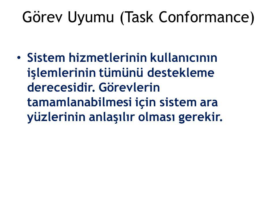 Görev Uyumu (Task Conformance)