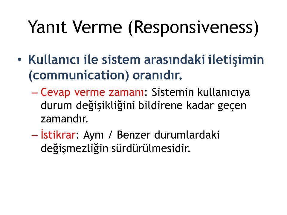 Yanıt Verme (Responsiveness)