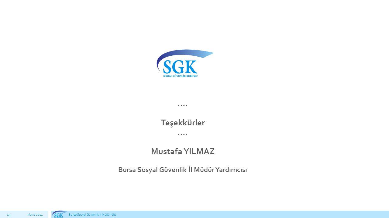 Bursa Sosyal Güvenlik İl Müdür Yardımcısı
