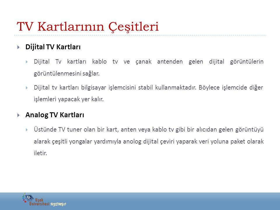 TV Kartlarının Çeşitleri