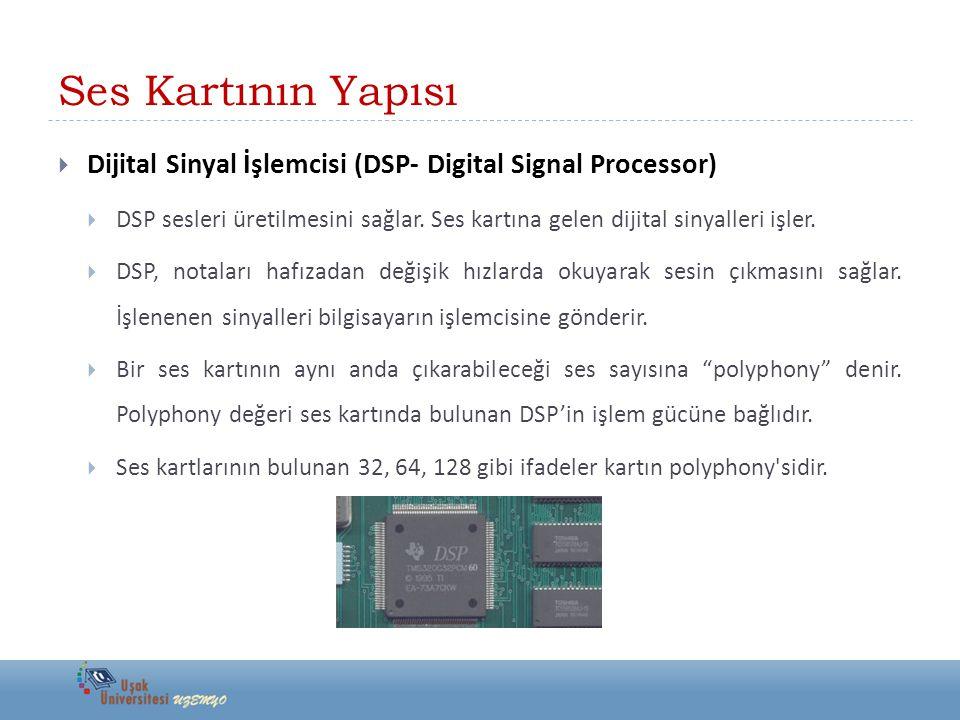 Ses Kartının Yapısı Dijital Sinyal İşlemcisi (DSP- Digital Signal Processor)