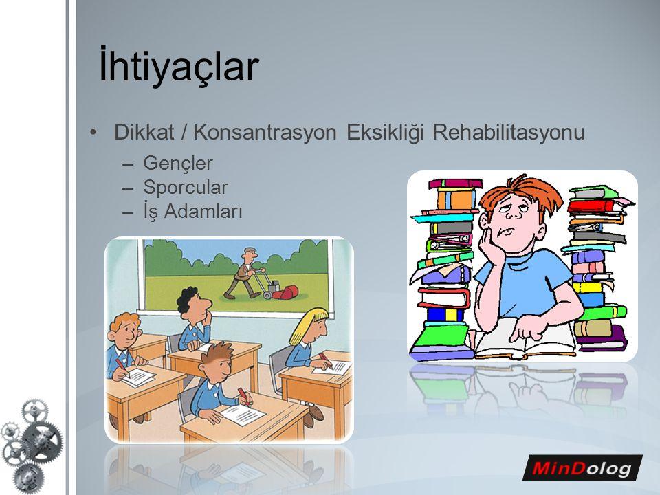 İhtiyaçlar Dikkat / Konsantrasyon Eksikliği Rehabilitasyonu Gençler