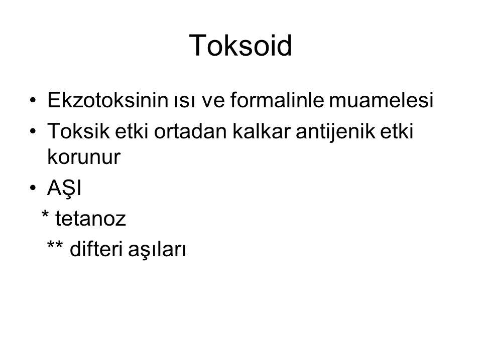Toksoid Ekzotoksinin ısı ve formalinle muamelesi