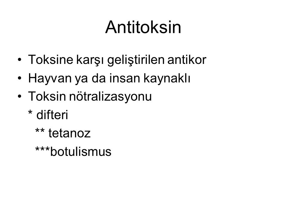 Antitoksin Toksine karşı geliştirilen antikor