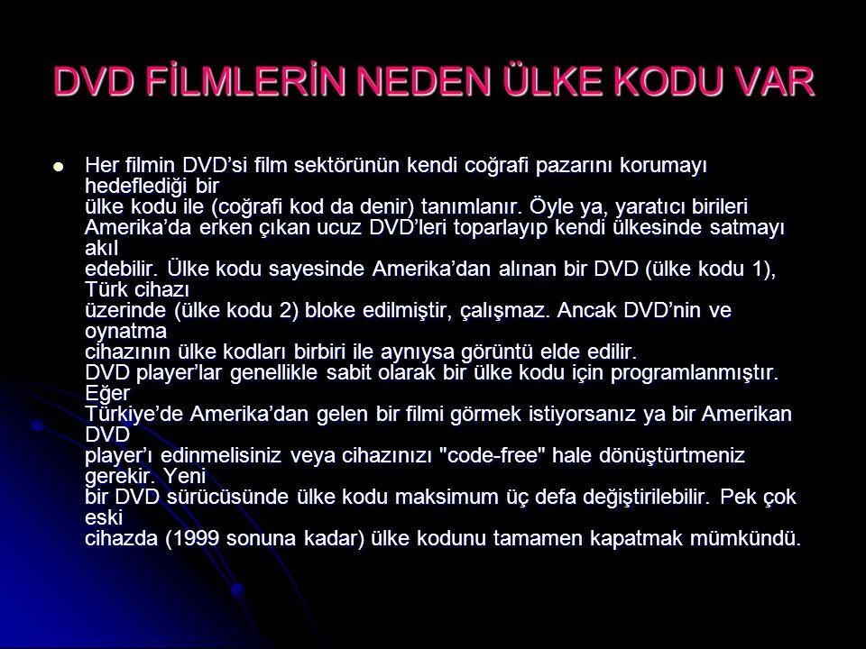 DVD FİLMLERİN NEDEN ÜLKE KODU VAR