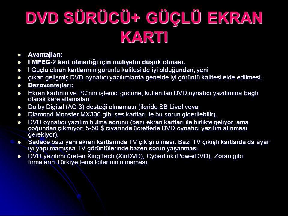 DVD SÜRÜCÜ+ GÜÇLÜ EKRAN KARTI