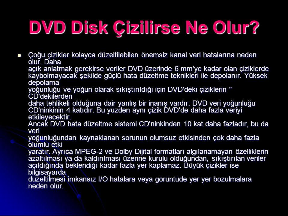 DVD Disk Çizilirse Ne Olur