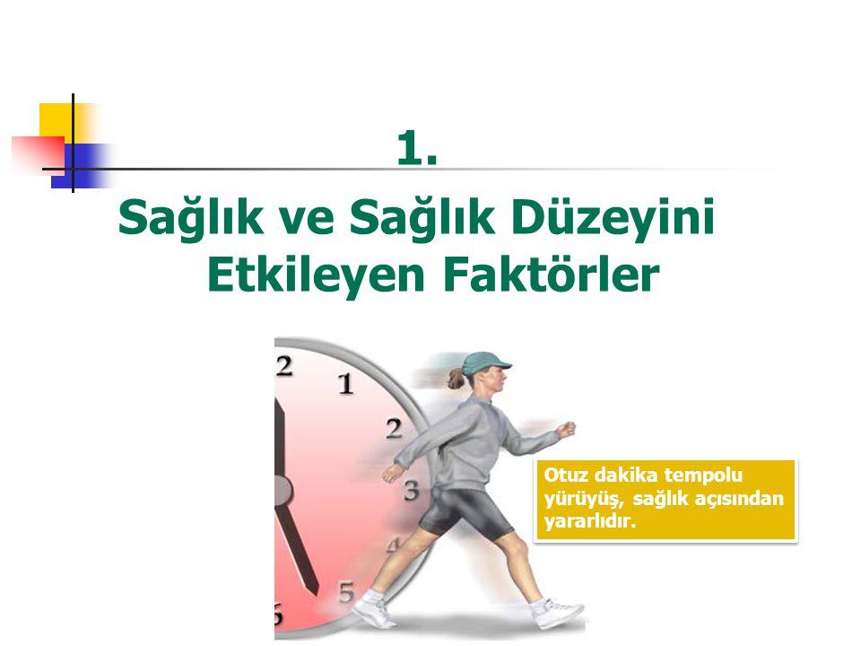 1. Sağlık ve Sağlık Düzeyini Etkileyen Faktörler