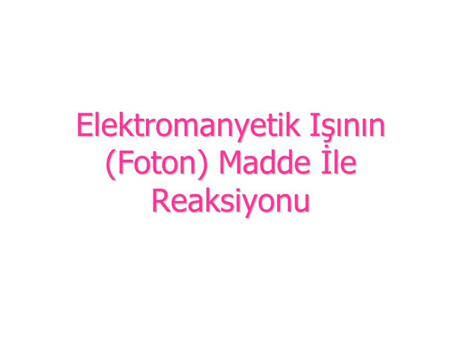 Elektromanyetik Işının (Foton) Madde İle Reaksiyonu