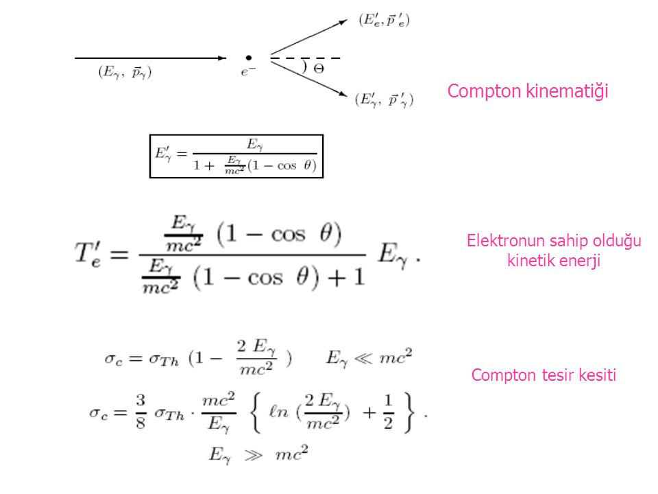 Elektronun sahip olduğu kinetik enerji