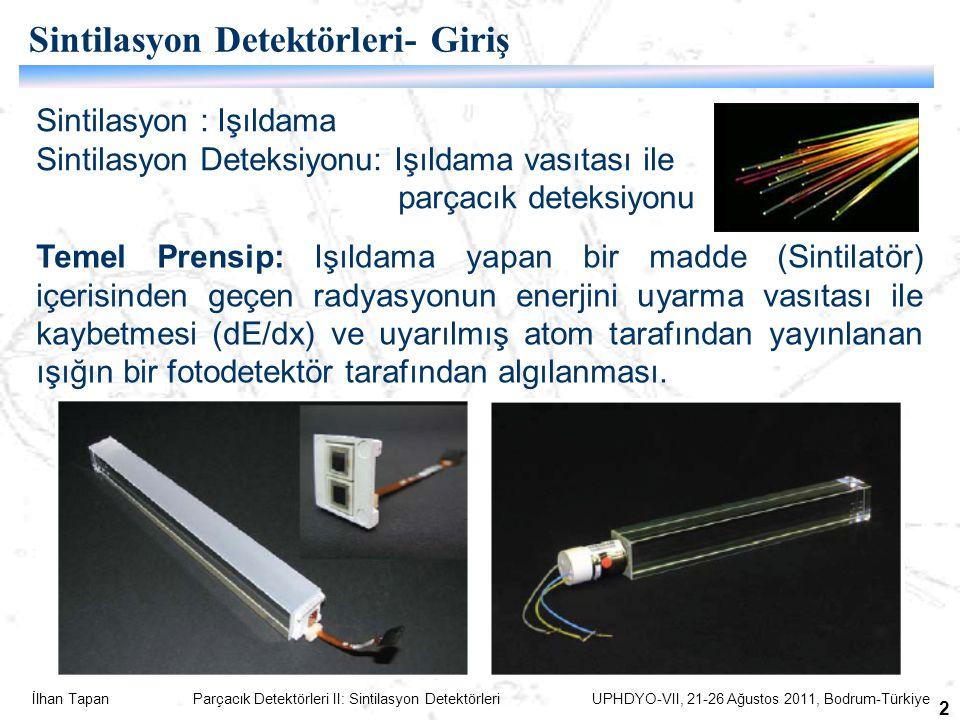 Sintilasyon Detektörleri- Giriş