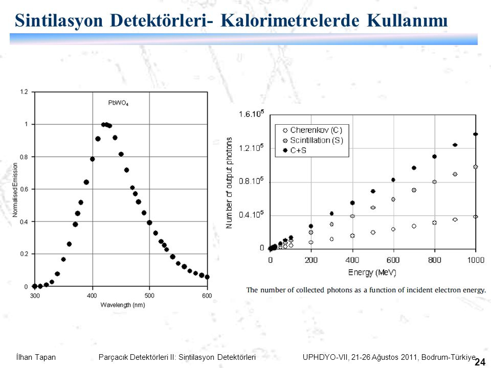 Sintilasyon Detektörleri- Kalorimetrelerde Kullanımı