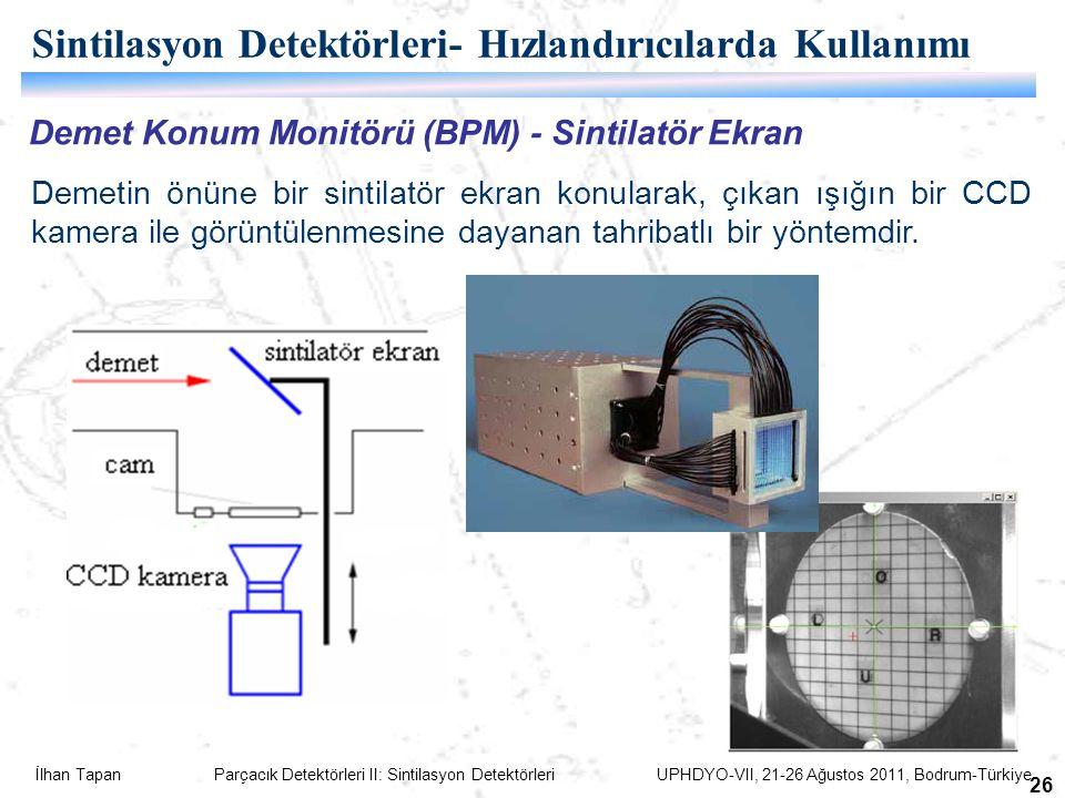 Sintilasyon Detektörleri- Hızlandırıcılarda Kullanımı