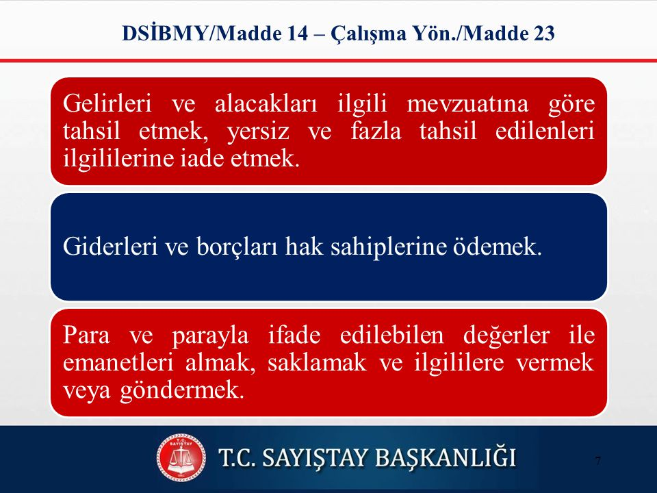 DSİBMY/Madde 14 – Çalışma Yön./Madde 23