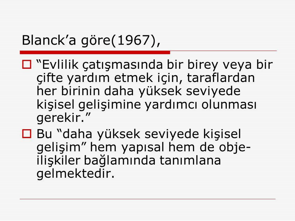 Blanck'a göre(1967),