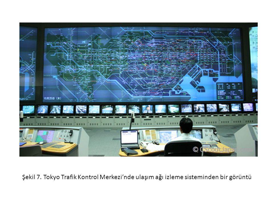 Şekil 7. Tokyo Trafik Kontrol Merkezi'nde ulaşım ağı izleme sisteminden bir görüntü