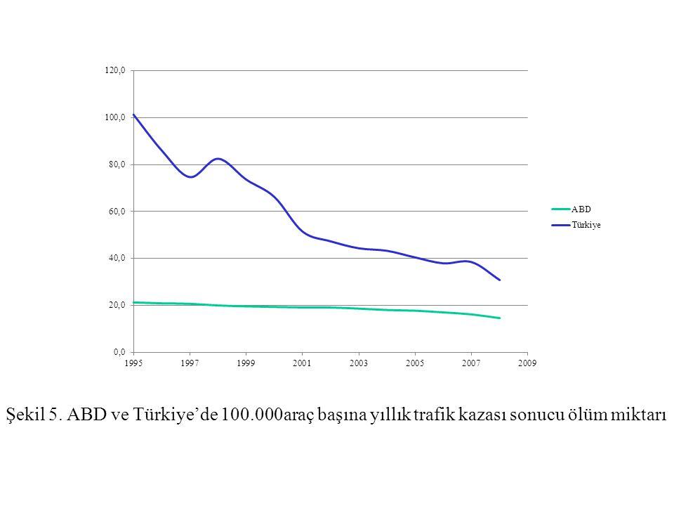 Şekil 5. ABD ve Türkiye'de 100