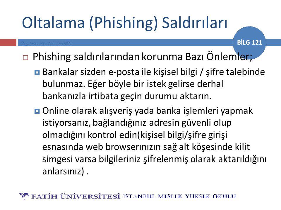 Oltalama (Phishing) Saldırıları