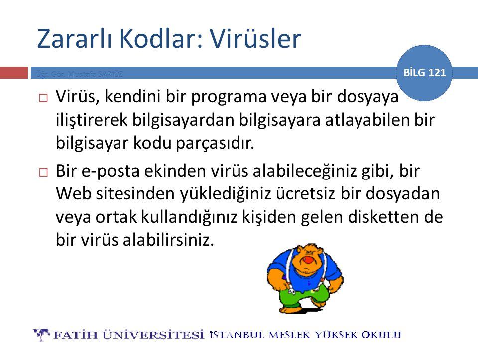 Zararlı Kodlar: Virüsler