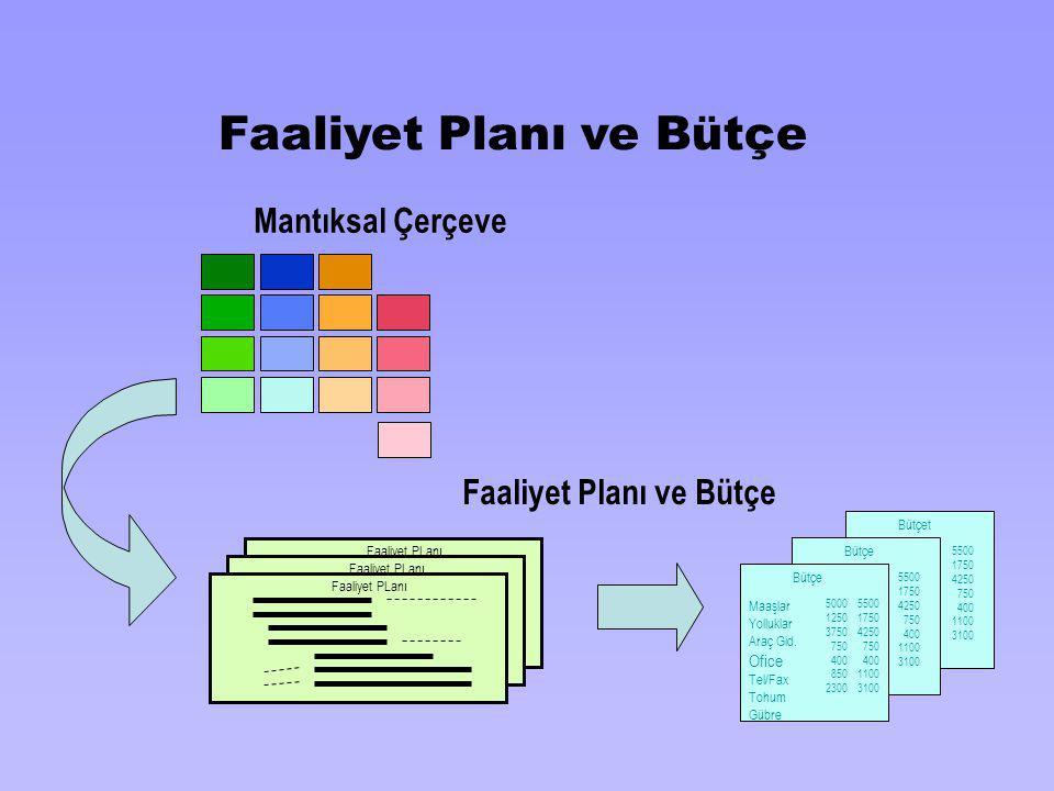 Faaliyet Planı ve Bütçe