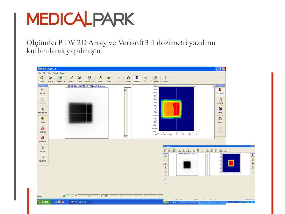 Ölçümler PTW 2D Array ve Verisoft 3