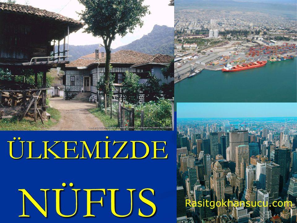 ÜLKEMİZDE NÜFUS Rasitgokhansucu.com