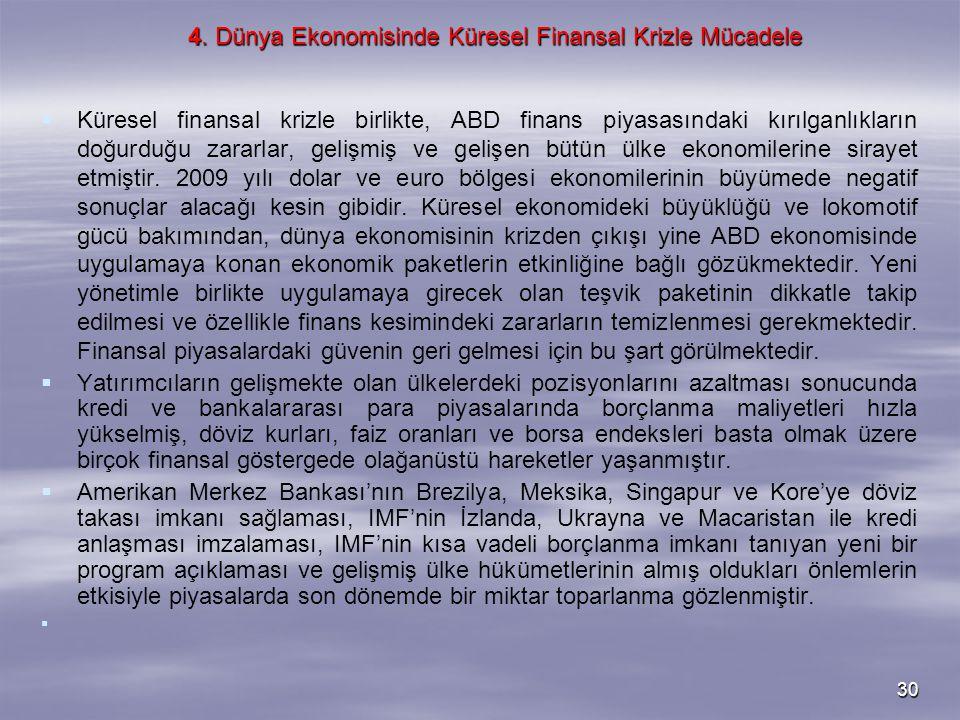 4. Dünya Ekonomisinde Küresel Finansal Krizle Mücadele