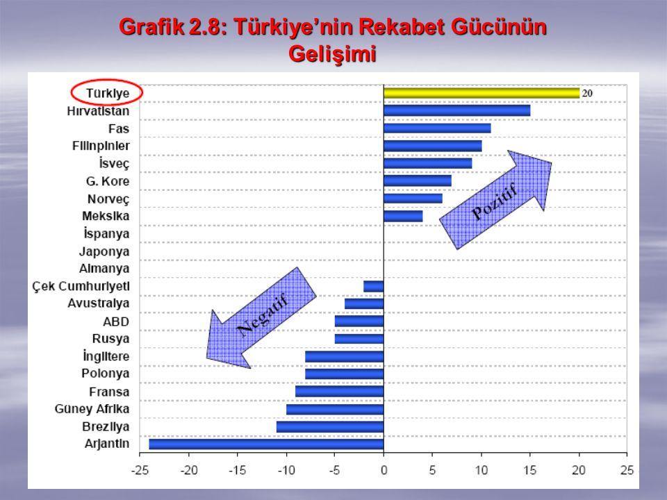 Grafik 2.8: Türkiye'nin Rekabet Gücünün Gelişimi