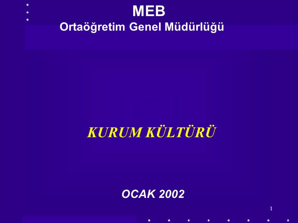 MEB Ortaöğretim Genel Müdürlüğü