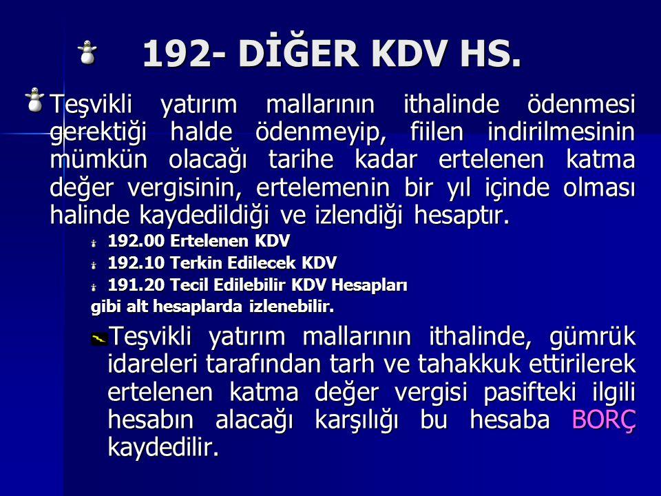 192- DİĞER KDV HS.