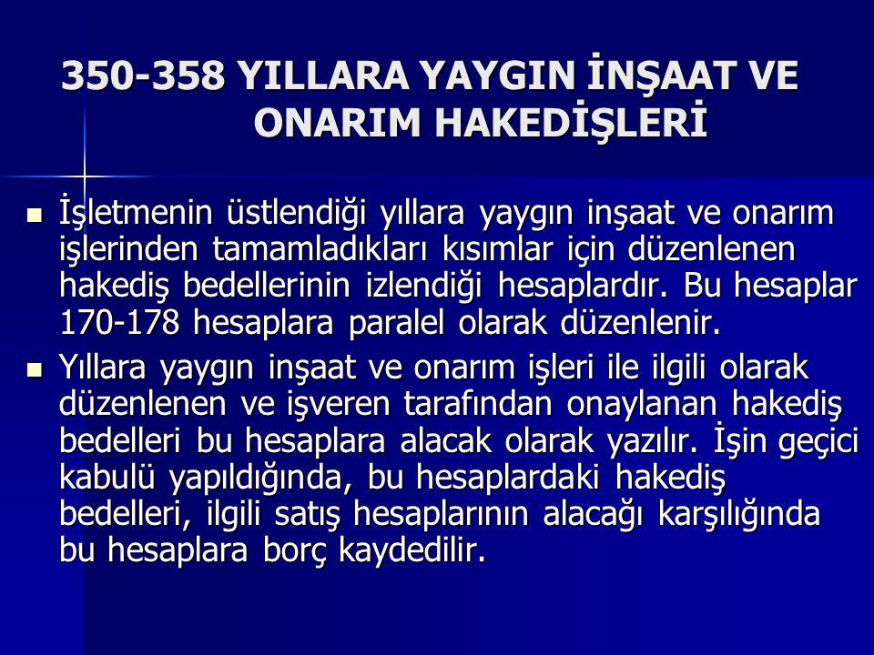 350-358 YILLARA YAYGIN İNŞAAT VE ONARIM HAKEDİŞLERİ