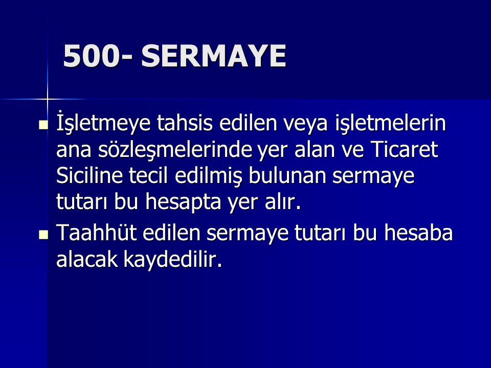 500- SERMAYE