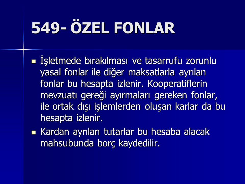 549- ÖZEL FONLAR