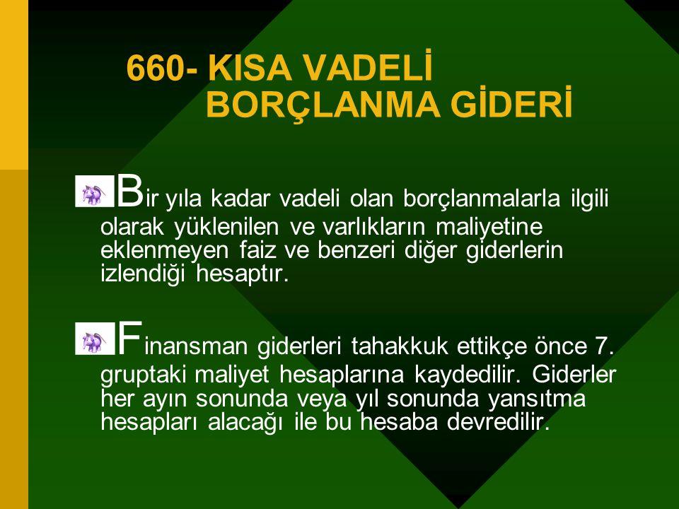 660- KISA VADELİ BORÇLANMA GİDERİ