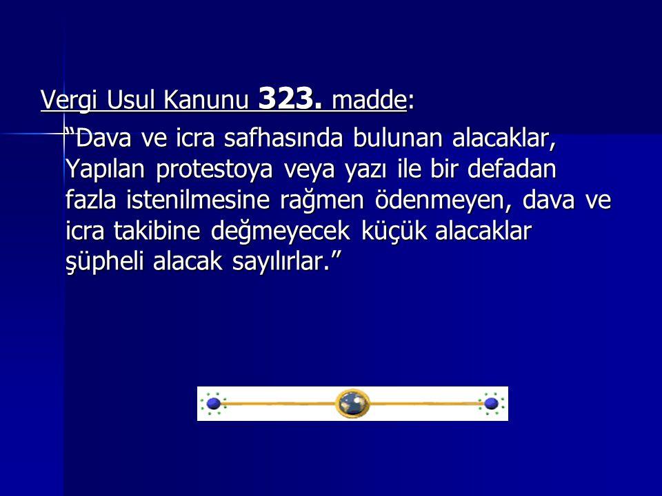Vergi Usul Kanunu 323. madde: